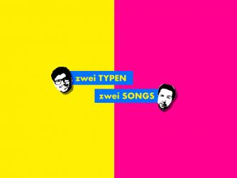 Alternatives Logo für den Musikpodcast zwei Typen zwei Songs