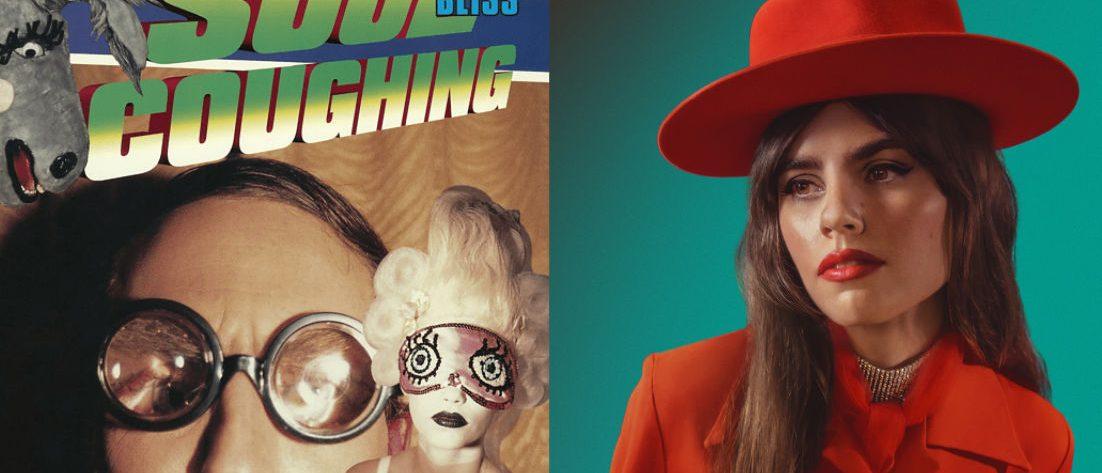 """Links das Cover von Soul Coughings """"Irresistable Bliss"""", rechts ein Foto von Hazel English"""