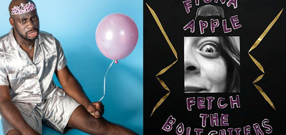 """Links das Cover von Nnamdis Album """"Brat"""", rechts das von Fiona Apples """"Fetch the Bolt Cutters"""""""
