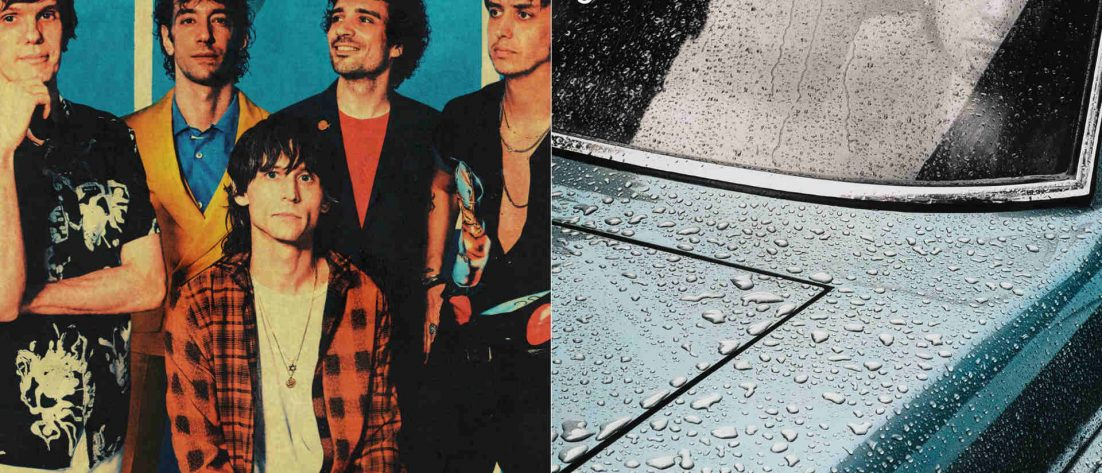 "Links The Strokes, rechts das Cover von Peter Gabriels Solodebüt ""Car"""