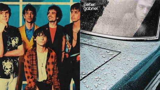 "Links The Strokes, rechts das Cover von Peter Gabriels Solodebüt ""Car"""