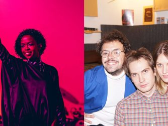 Links Lauryn Hill, rechts die Band Pauls Jets
