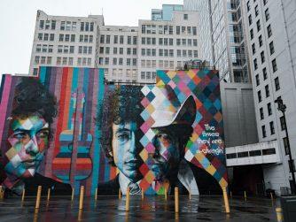 Bob Dylan Mural in Minneapolis
